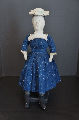 Tea and crumpets? painted face cloth doll is looking for some C1880