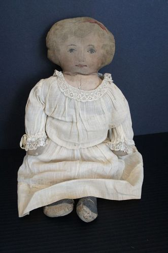 """A doll for your grandchildren to play with from early 1900s 17"""""""