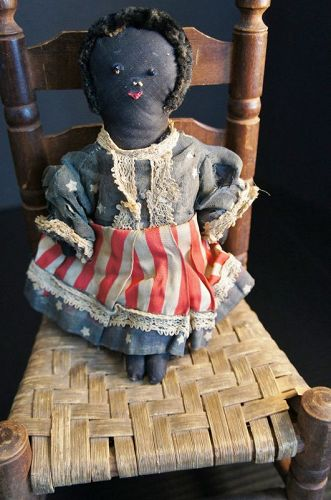 As big as a minute, a little patriotic black cloth doll