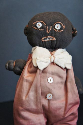 """Mamma dressed him and he is not happy! 11"""" tall C. 1910"""