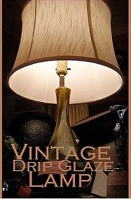 Vintage Drip Glaze Lamp  Reg. $85.00