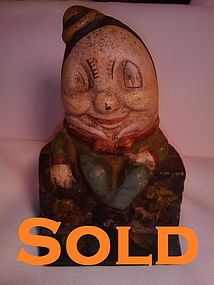 Cast Iron Humpty Dumpty Coin Bank