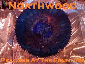 "Northwood Peacock At The Fountain 9"" Bowl"