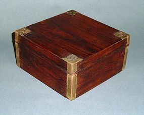 Antique Chinese Huanghuali Scholar Box