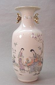 Chinese Famille Rose Porcelain Beauty Vase