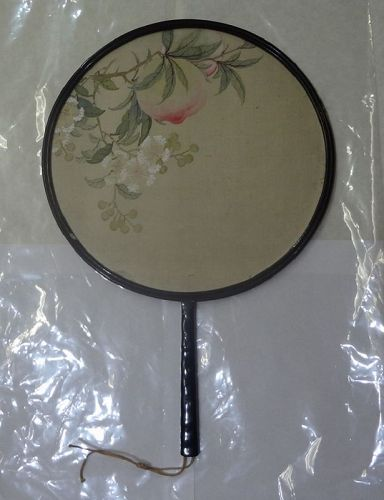 Rare Chinese Qing Court Imperial Painted Silk Fan