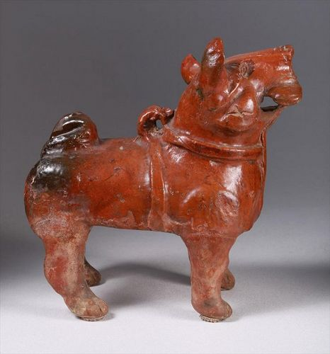 Large Antique Chinese Pottery Dog (Published)