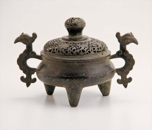 Antique Chinese Copper Incense Burner