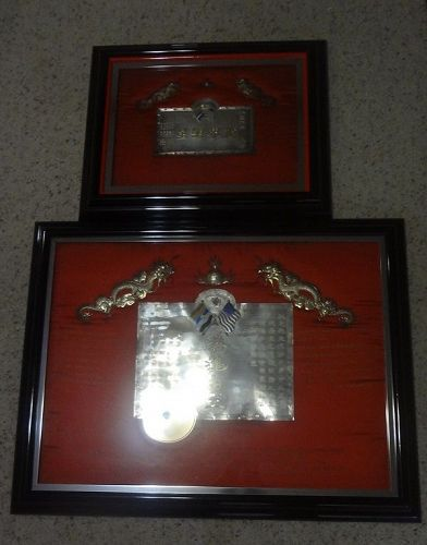 Two Antique Chinese Presentation Plaques
