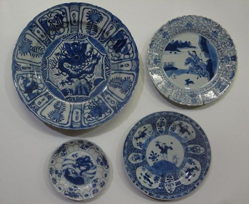 Antique Chinese Export Blue and White Porcelain