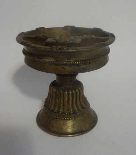 Antique Chinese / Tibetan Bronze Lamp