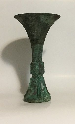 Rare Antique Chinese Bronze Ritual Vessel