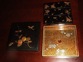 A Set of Japanese? Chinese? Lacquer Wares