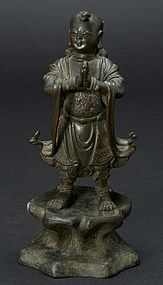 Chinese Ming Dynasty Bronze Attendant