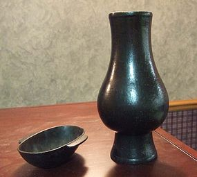 Two Chinese Bronze Scholar Objects (Ming and Qing)