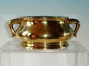 Unusual Chinese Qing Dynasty Bronze Censer