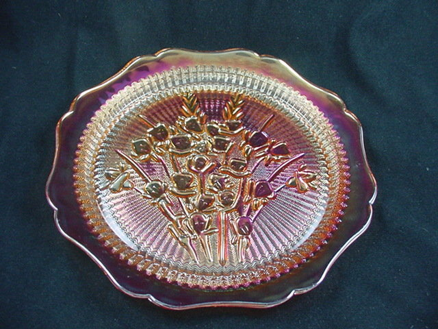 Iris & Herringbone Dinner Plate - Marigold