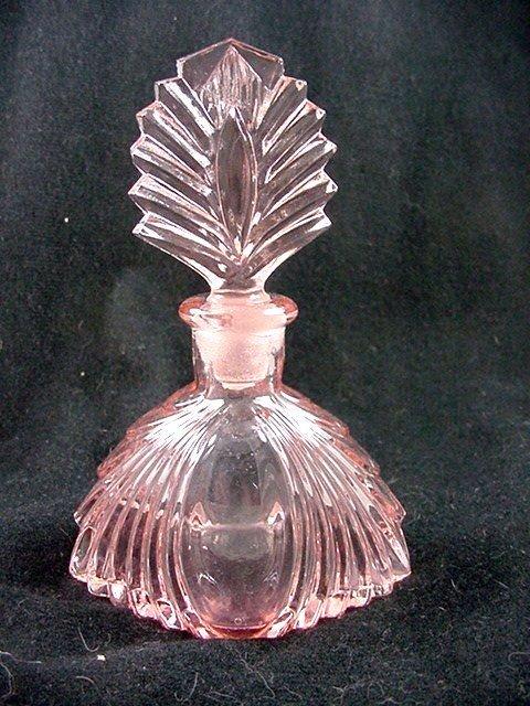 New Martinsville Cologne Bottle - Pink