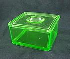 Kitchenware - Hazel Atlas Green Refrigerator Jar