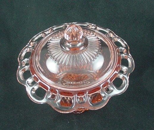 Old Colony Lace Edge Candy Jar & Cover