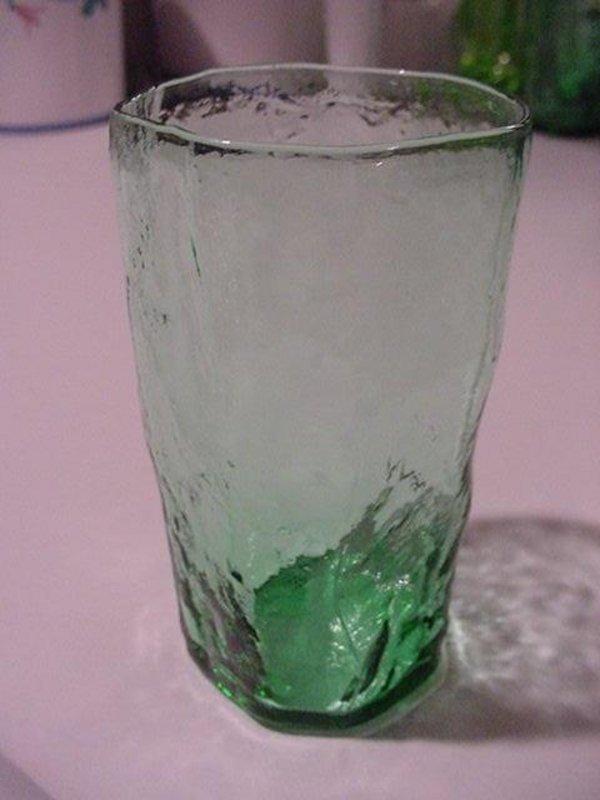 Morgantown Crinkle Juice Tumblers - Amethyst & Green