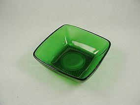 FireKing Charm Dessert Bowl- Forest Green