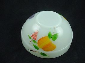 FireKing Hand Painted Fruits Colonial Rim Mixing Bowl
