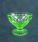 Cube Footed Sherbet -  Green