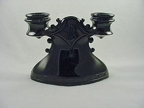 Mt Pleasant Double Candlestick - Black Amethyst