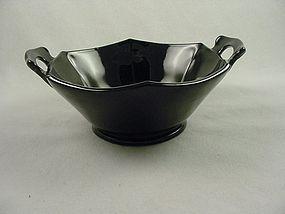 Mt Pleasant Handled Bowl - Black Amethyst