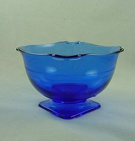 Mt Pleasant Cobalt  Square Footed Bowl