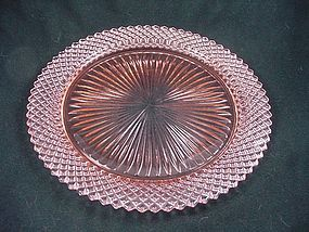 Miss America Dinner Plate - Pink
