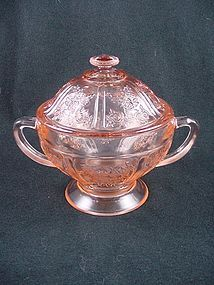 Sharon Sugar Bowl & Cover - Pink