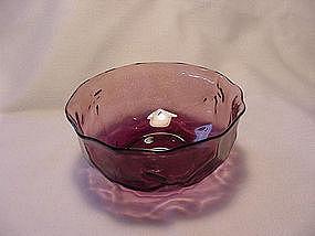 Morgantown Crinkle Berry Bowls - Amethyst