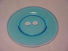 Fostoria Priscilla or Pioneer Plate - Blue