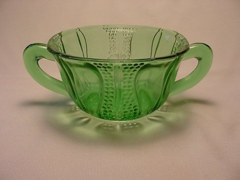 Tulip Sugar Bowl - Green