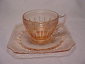 Adam Pink Cup & Saucer Set