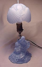 L.E. Smith Company Ballerina Lamp - Blue
