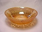 Iris & Herringbone Beaded Edge Berry Bowl - Iridescent