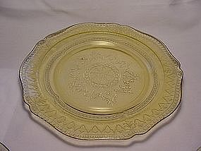 Patrician Spoke Luncheon Plate - Amber