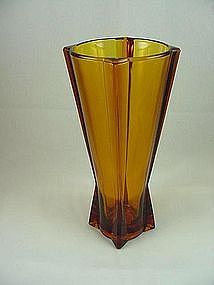 FireKing Rocket Vase - Desert Gold