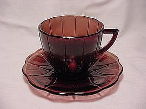Newport Hairpin Amethyst Cup & Saucer Set