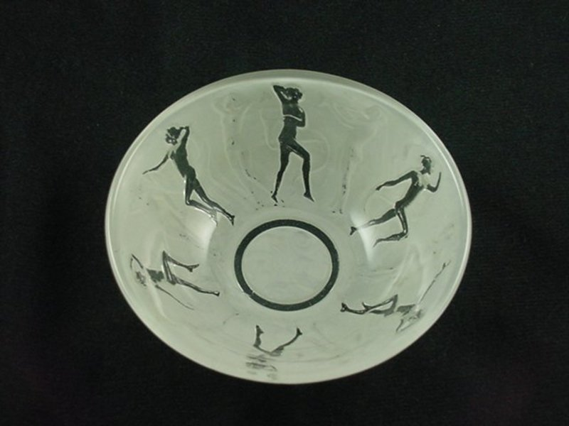 Consolidated Dancing Nymphs Berry Bowl - Rare Finish
