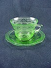 Patrician Spoke Cup & Saucer Set - Green