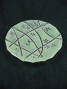 Consolidated Line 700 Bread Plate - Green Ceramic
