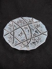 Consolidated Line 700 Bread Plate - Blue Ceramic