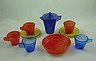 Akro Agate Chiquita Children's Dishes
