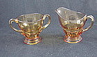 Moondrops Sugar & Creamer Set - Amber
