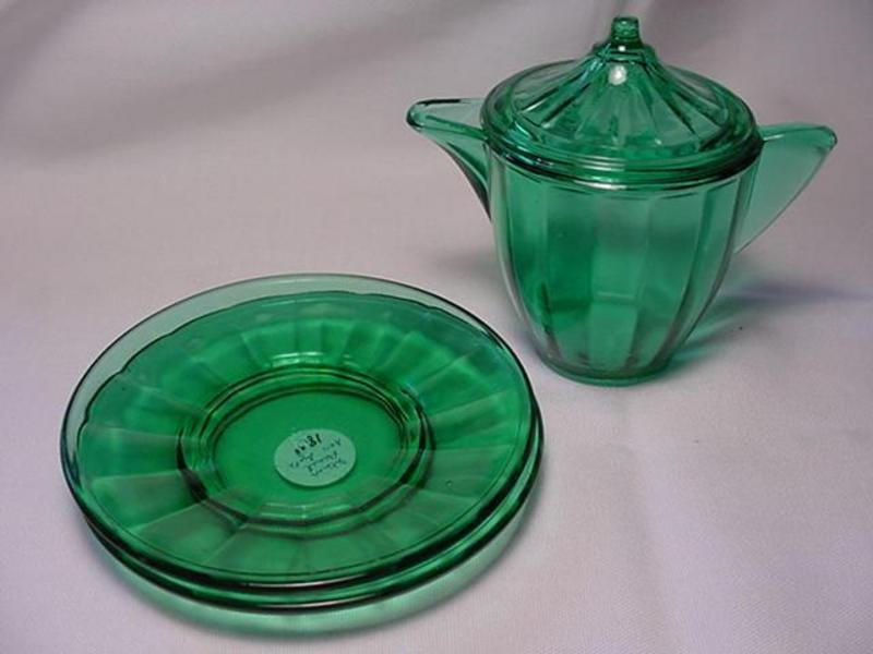 Akro Agate Large Interior Panel Toy Dishes