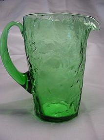 Morgantown Crinkle Tijuana Pitcher - Green